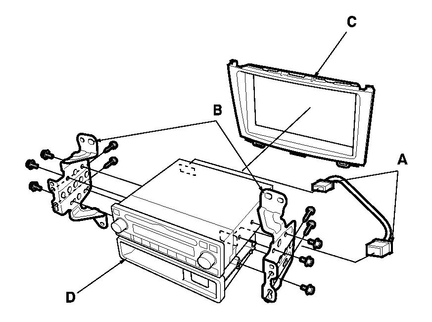 need interior trim  wiring diagram to install radio onto honda