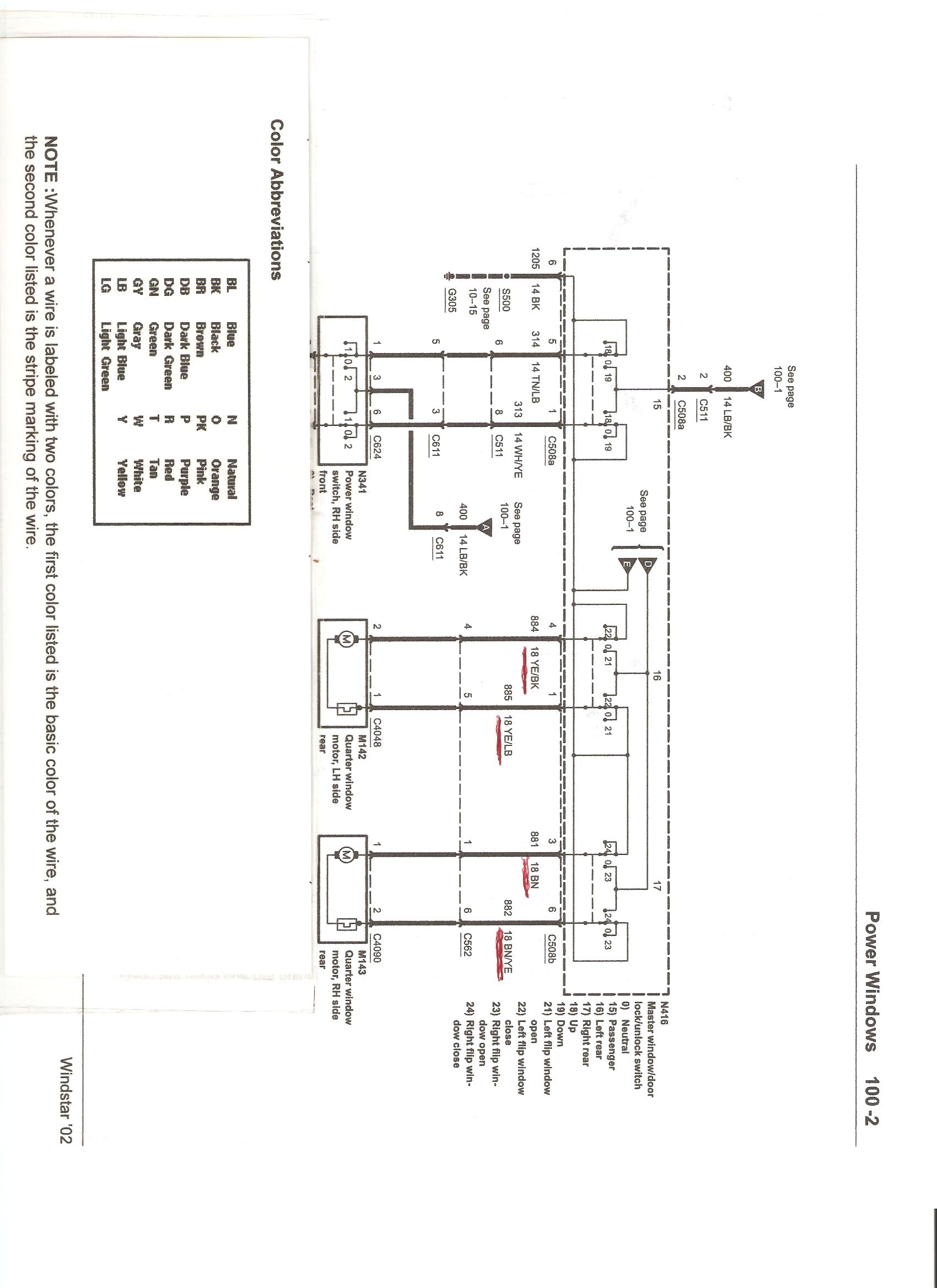 how do you test swith and or motor on 2002 windstar rear