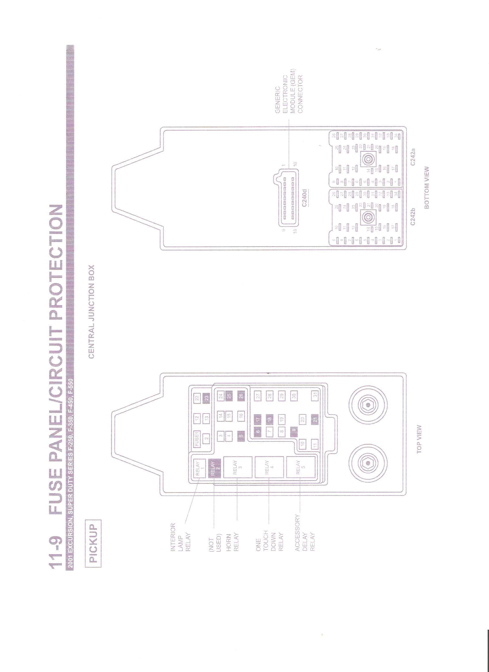 i need adrawing for a 2001 f350 fuse diagram i want to steve graphic graphic graphic