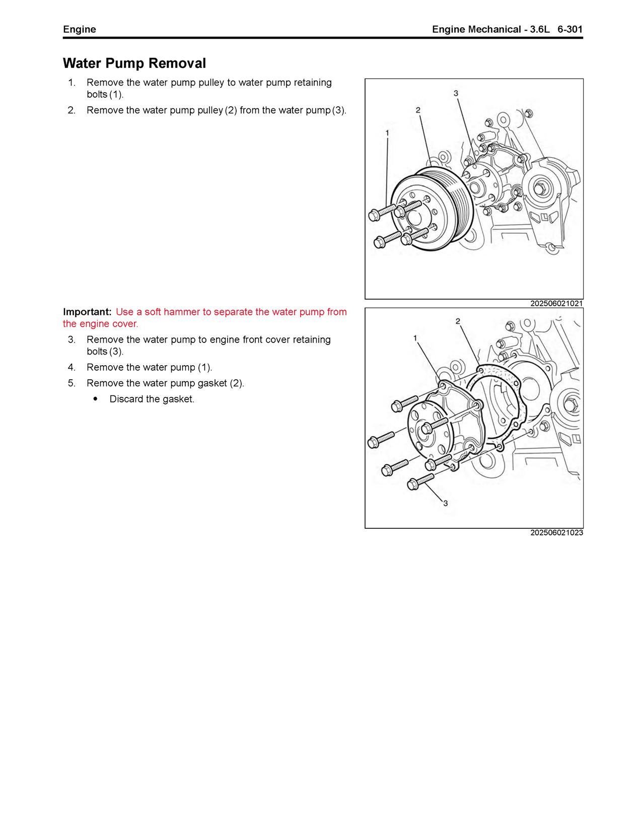 How Do I Change The Water Pump On My 2005 Vz Alloytec 6