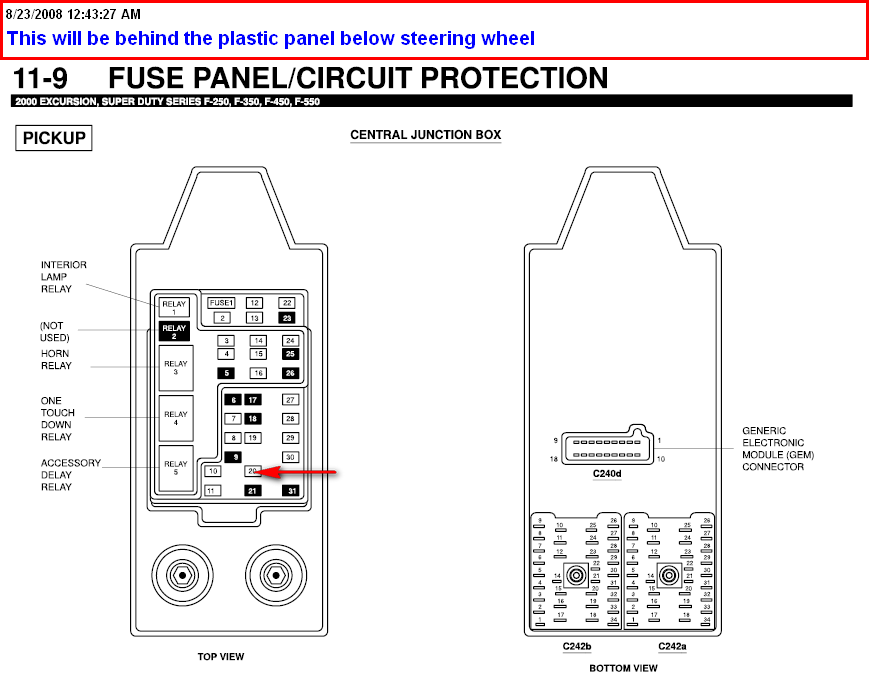 2000 ford f 450 super duty 2wd cab switched power at the solenoid graphic graphic graphic