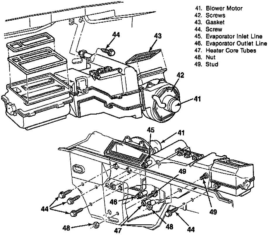 service manual  1993 chevrolet 1500 heater motor replace