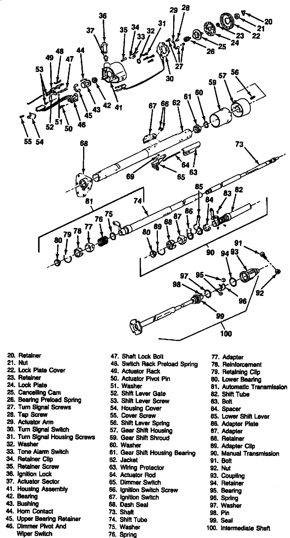 flaming river column wiring diagram gm  gm  auto wiring