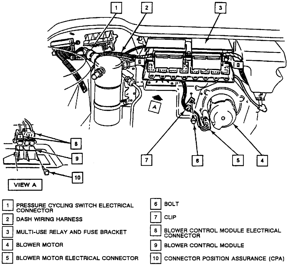 i have a buick park ave dual zone comfort control graphic