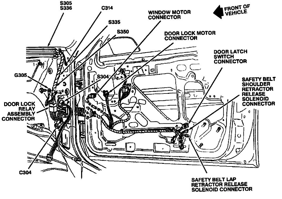service manual  2004 buick century driver door latch