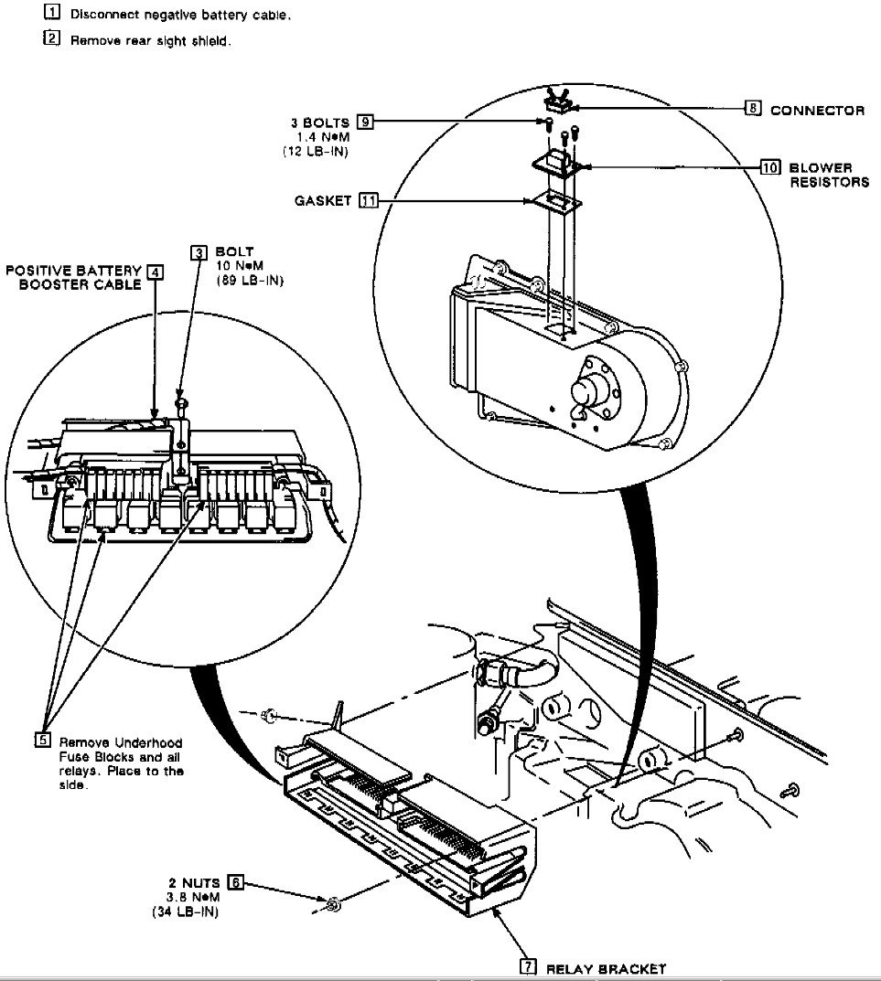 service manual  1991 buick riviera heater blower replace