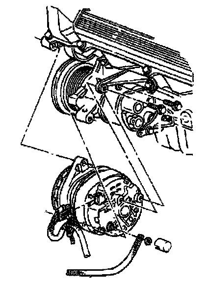 how do install a 1990 cadillac eldorado alternater