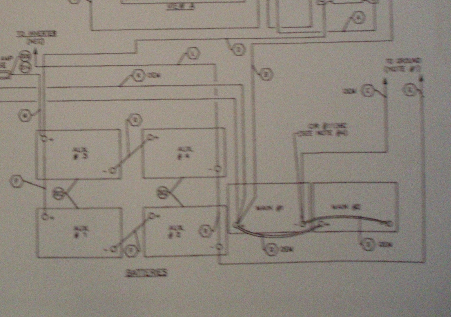 Need Battery Install Diagram For House Batteries Also