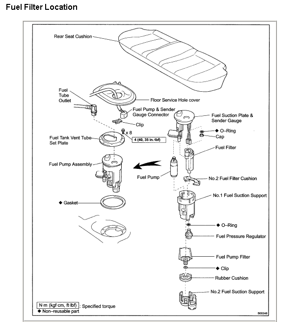 2002 toyota fuel filter location 2002 accord fuel filter location