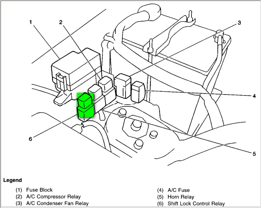 i would like to locate the shift lock relay on a 2000