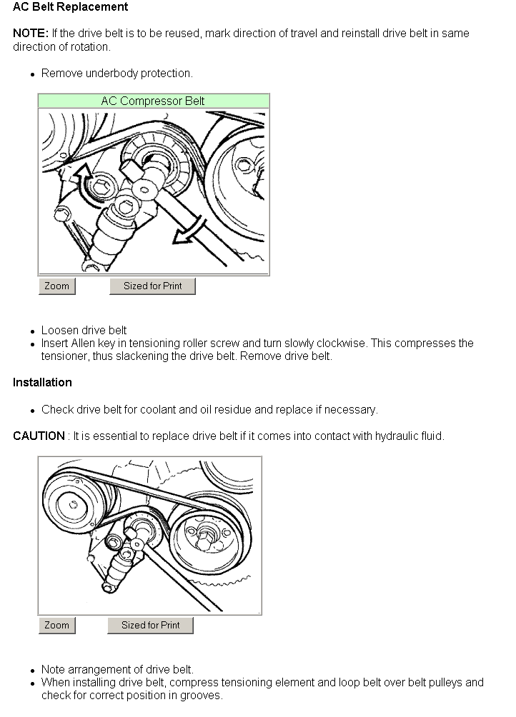 Service Manual  I Need A Diagram Showing How To Install A Serpentine Belt
