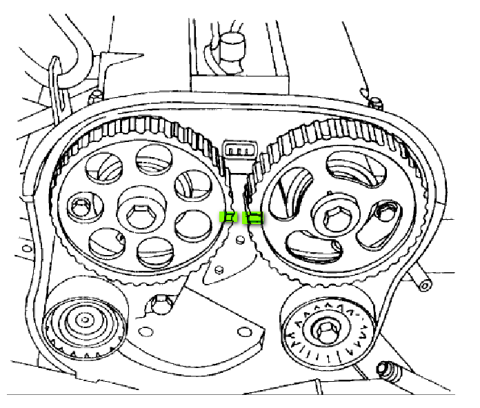 2001 Daewoo Lanos Timing Belt Diagram