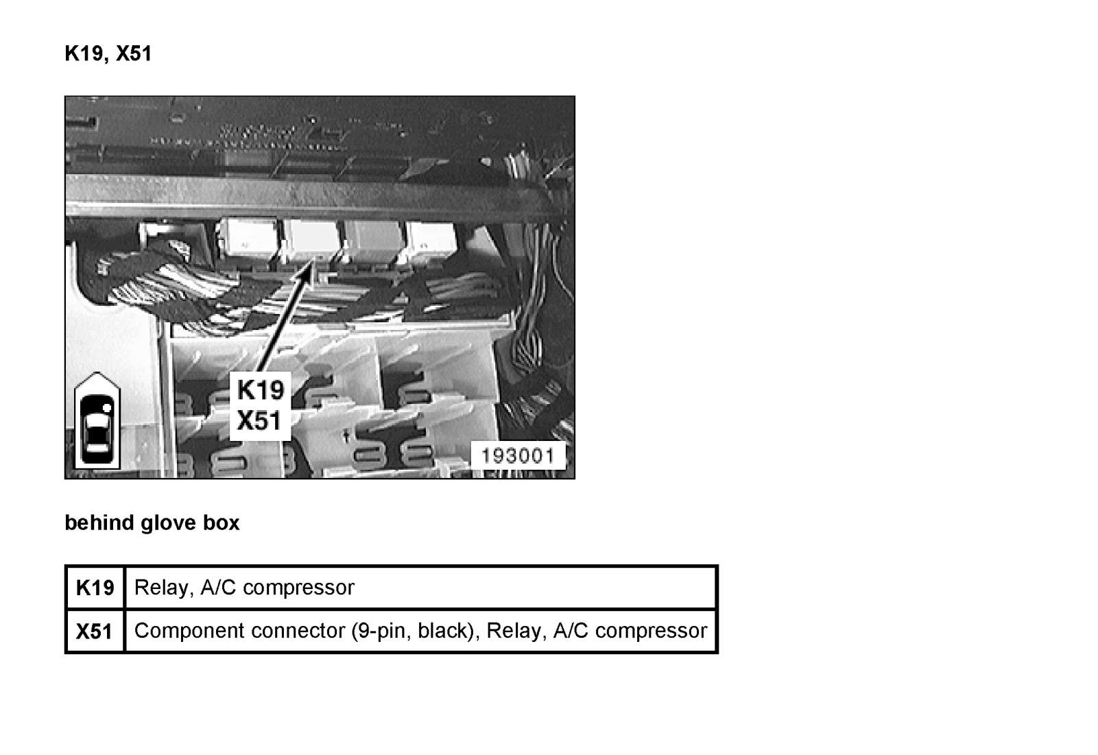 Where Is The A  C Compresor Relay On A 2004 325i