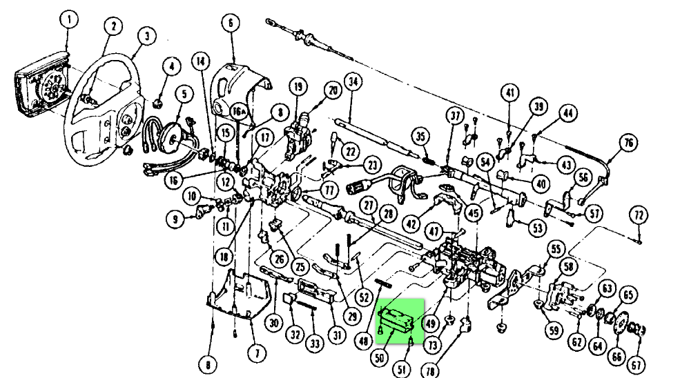 ford f 150 ignition switch location