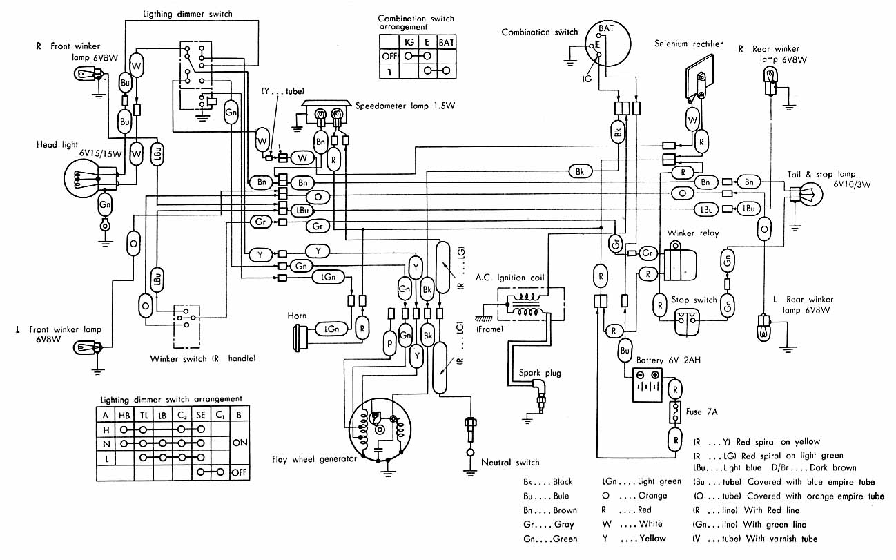 i need a wiring diagram of a honda c 50 e year not sure