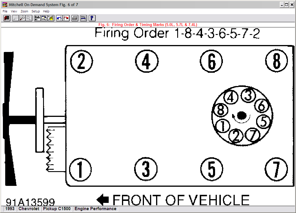 Small Block Chevy Firing Order on Small Block Chevy Distributor Firing Order