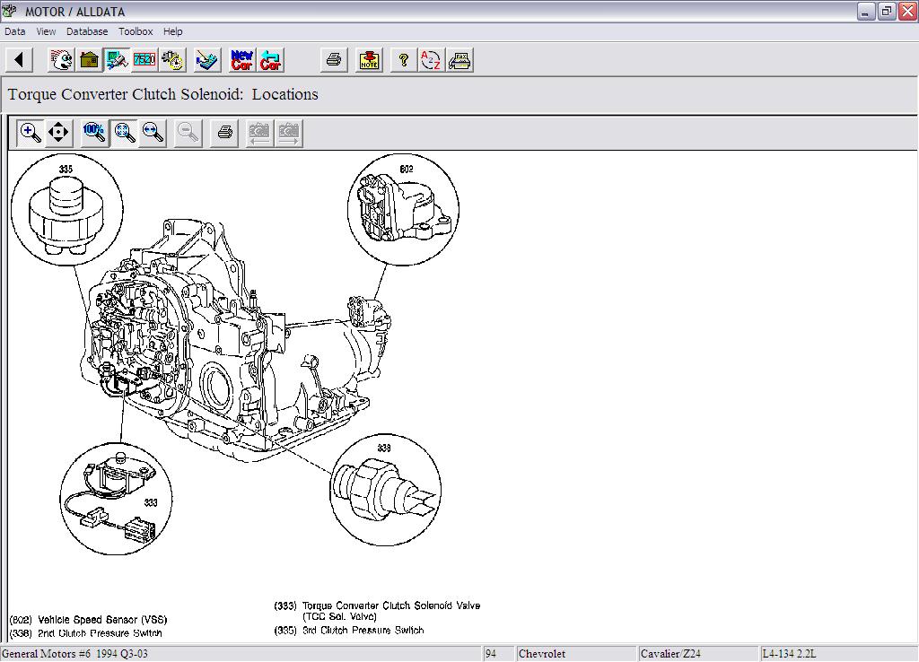 2004 chevy cavalier speaker wiring diagram 1994 chevrolet cavalier sedan automatic need location of ... #12