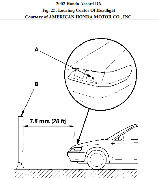 service manual  how to ajust headlight beam 2007 honda