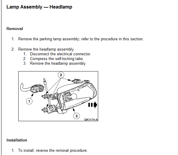 1997 Oldsmobile 88 Transmission: Service Manual [How To Change A Headlight For A 1997