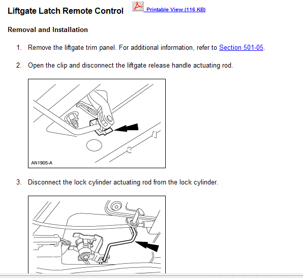 I Have A Ford Windstar 2003  The Rear Door Latch Is Broken
