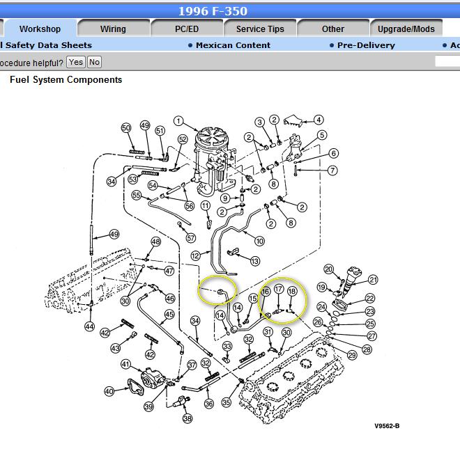 how do i restart my 1996 7.3 liter ford diesel ... 7 3 liter diesel engine diagram