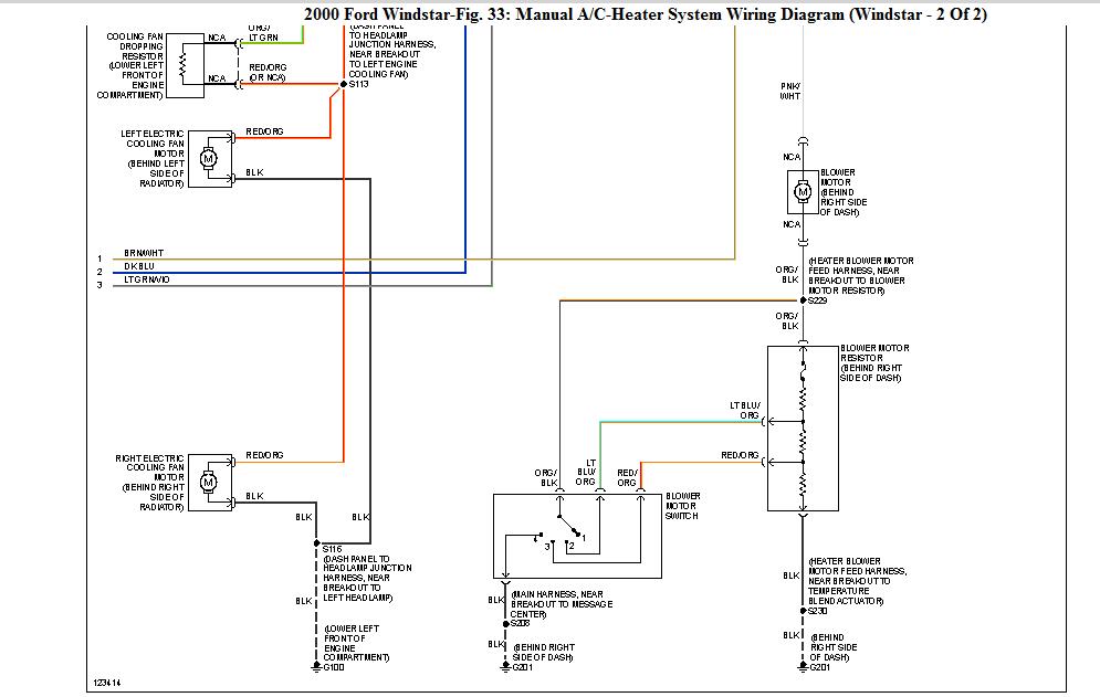 i have a 2000 ford windstar heater ac but no voltage at. Black Bedroom Furniture Sets. Home Design Ideas