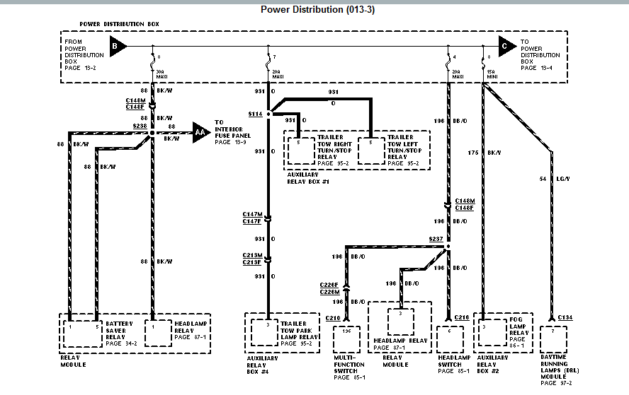 the 30 amp circuit fuse on a 1997 mercury mountaineer for ... mercury mountaineer window wiring diagram