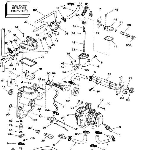 OMC 206 8hp moreover Evinrude 55 Hp Wiring Diagram moreover 35 Hp Force Outboard Wiring Diagram additionally Evinrude Parts Diagram likewise Carburetor Assembly  plete. on evinrude outboard wiring diagram