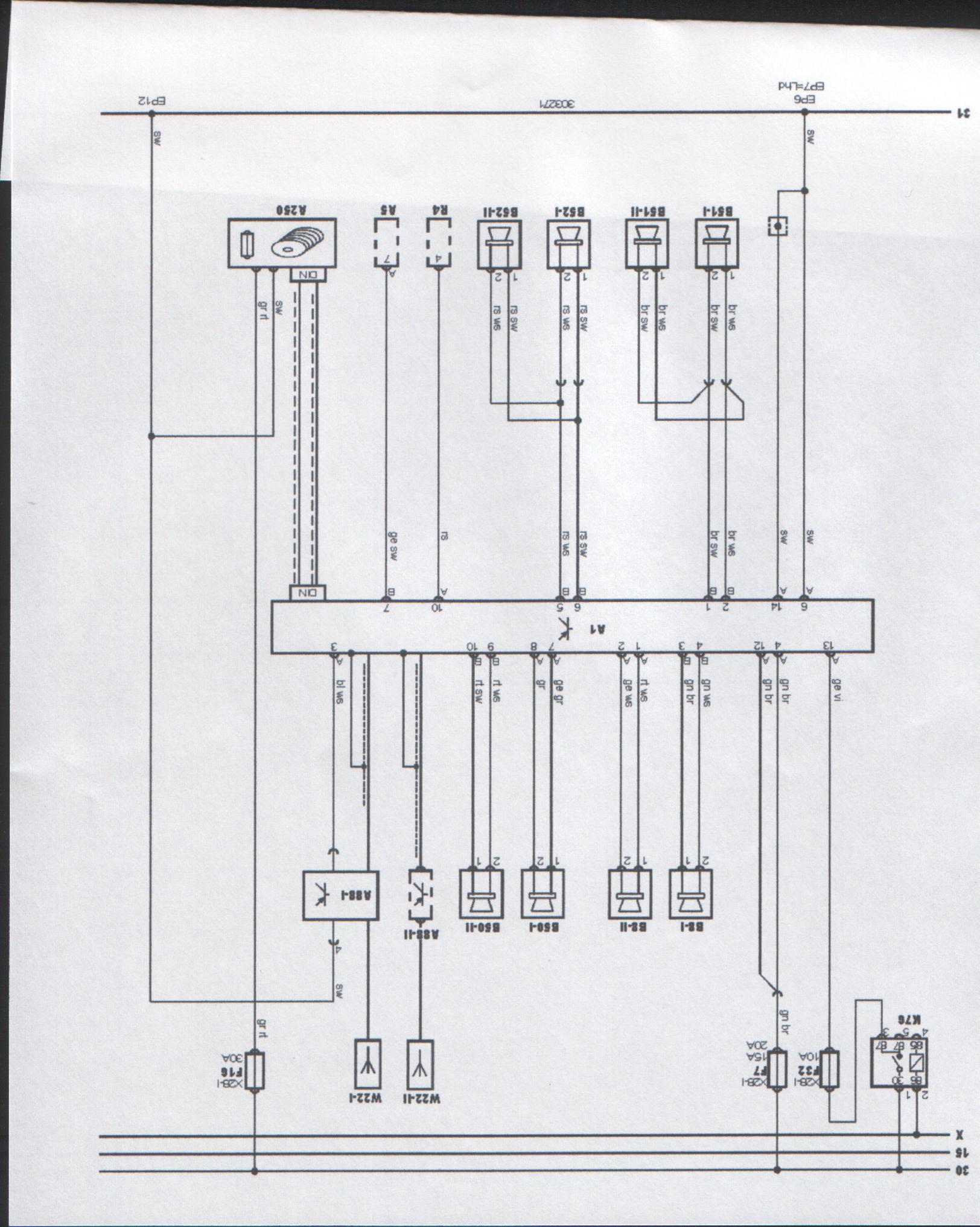 needing a speaker wiring diagram for 1998 volvo s70 4dr ... alarm wiring diagram 1998 ford explorer 1998