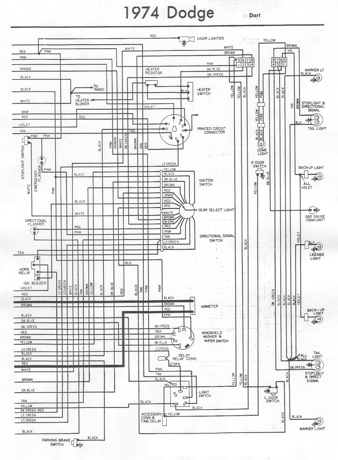 1975 dodge light wiring diagram  u2022 wiring diagram for free