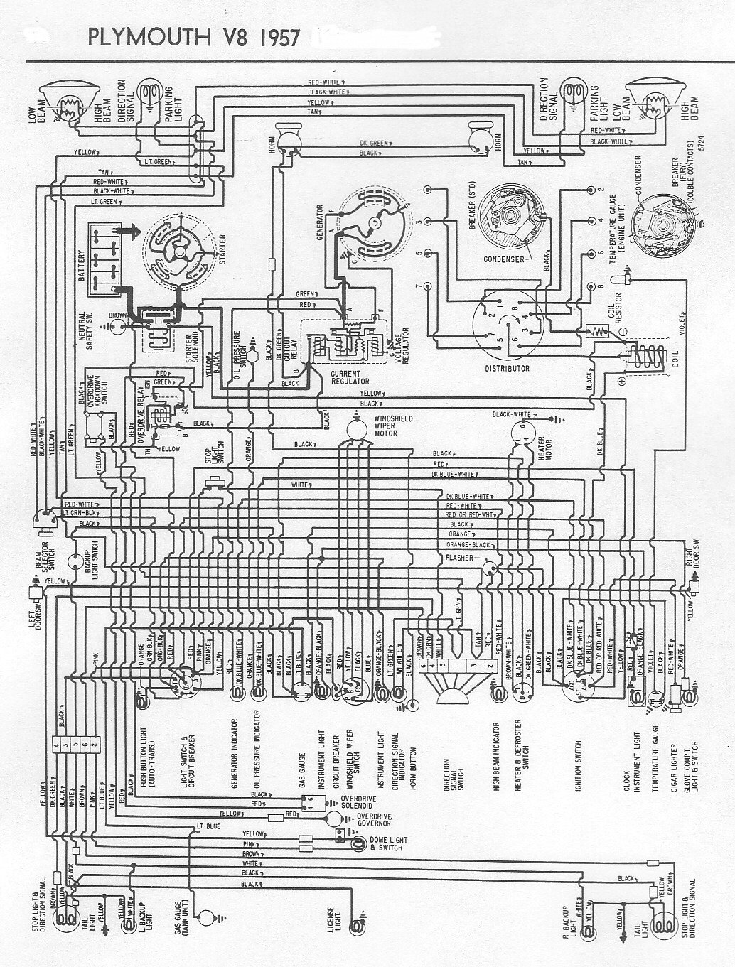 I Am Looking For The Engine Wiring Diagram For A 1957