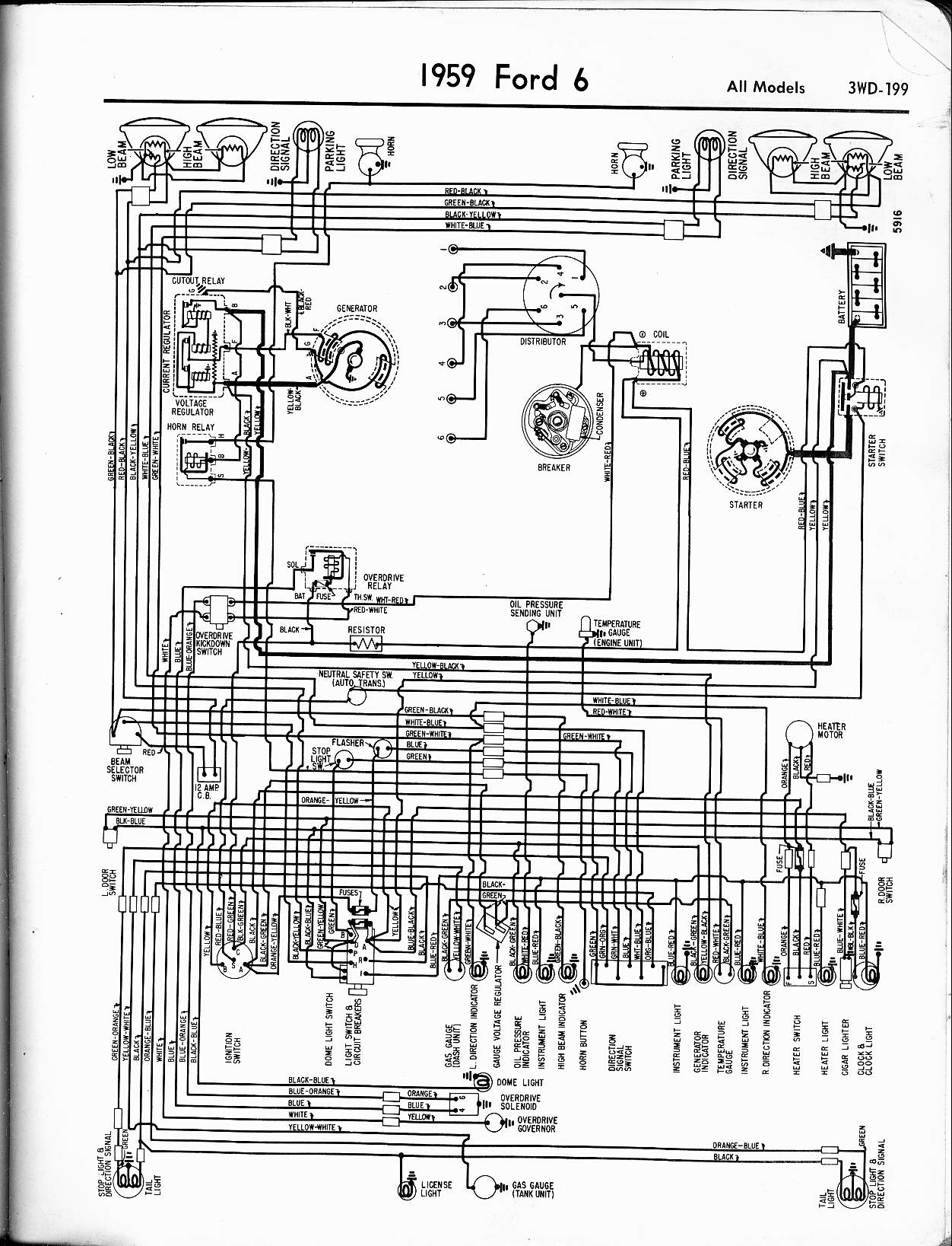 Ford on 1959 Ford F100 Wiring Diagram