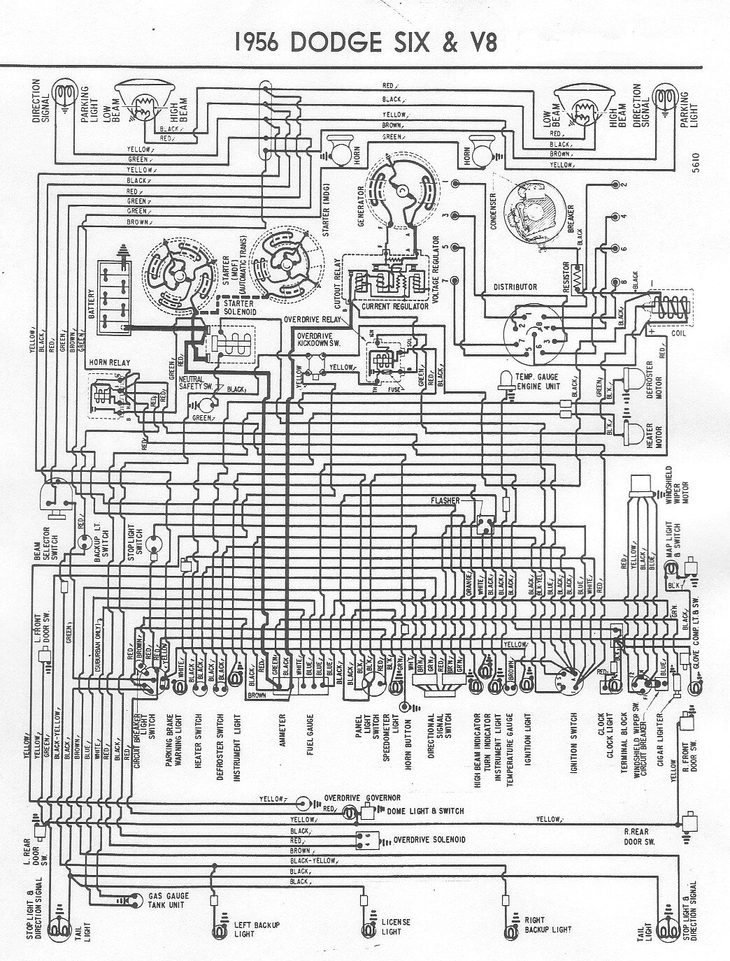 I Am Looking For The Wiring Diagram For A 1956 Dodge Truck