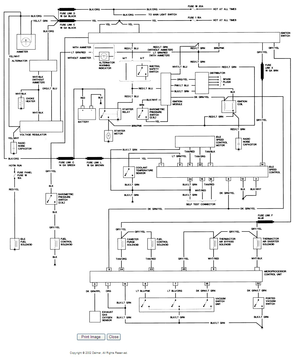 I Need The Electrical Wiring Diagram For A 1985 Ford