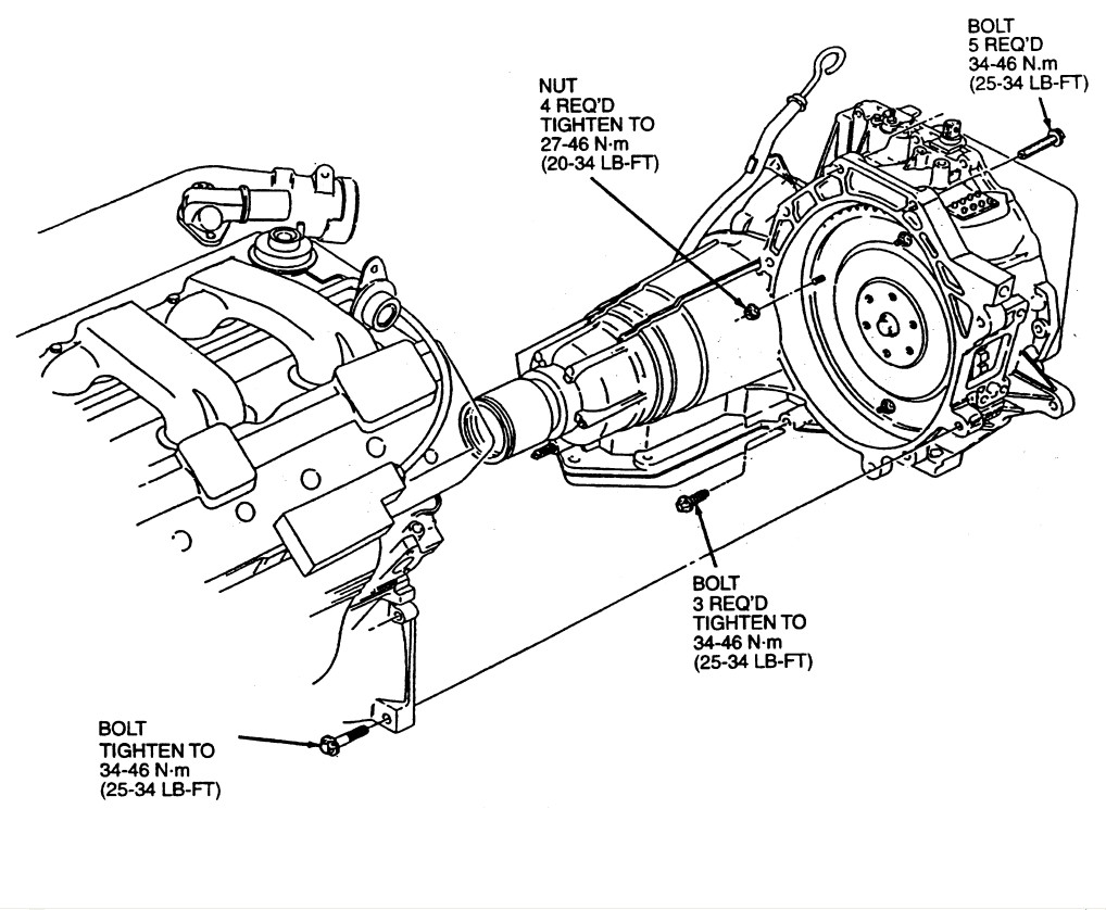 service manual  removing transmission 2008 ford taurus