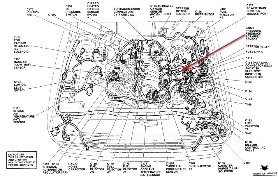 Ford Ranger 3 0 Dpfe Sensor on ford windstar vacuum diagram
