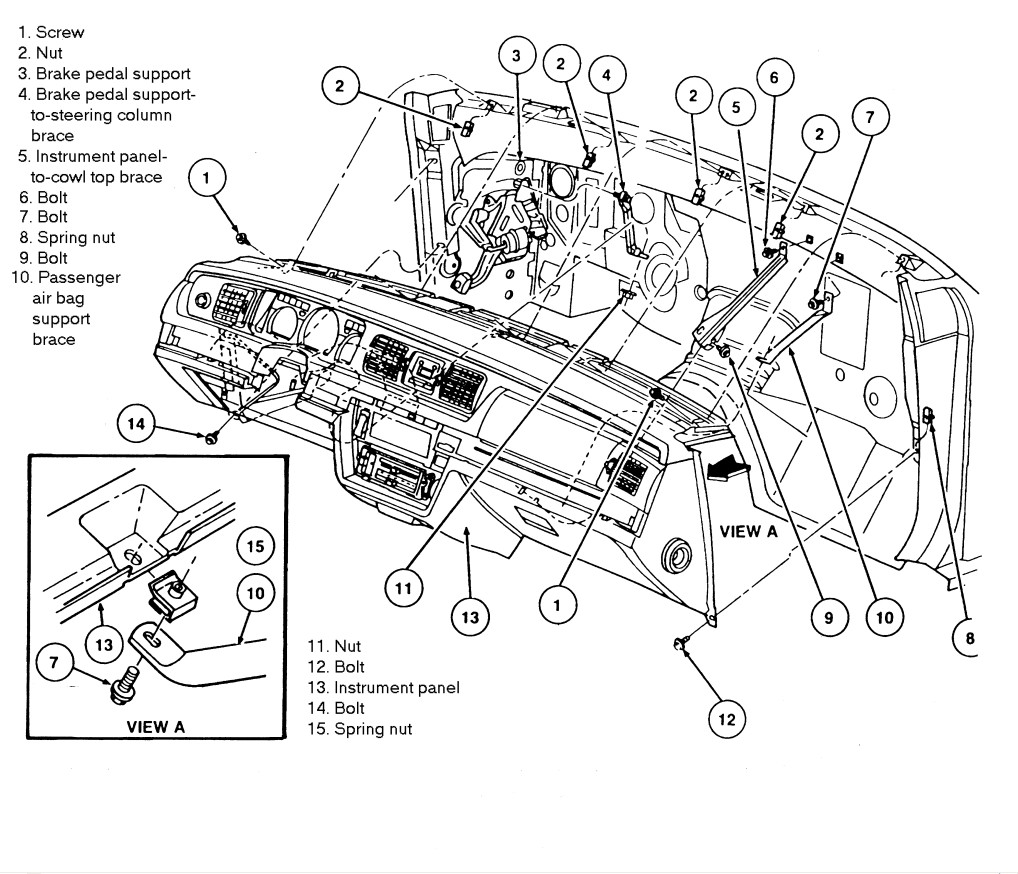 ford crown vic wiring diagram ford crown vic blueprints