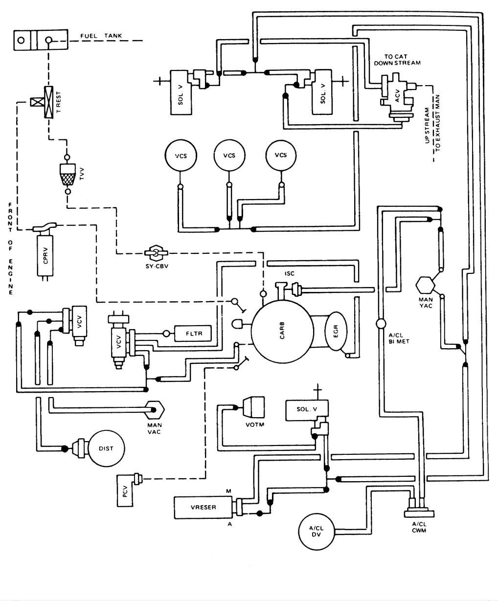 Smog Vacuum Hose Diagram 1987 Ford E350  Engine 460