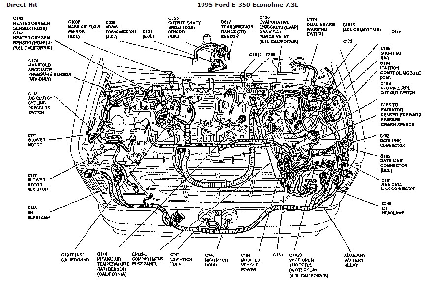 ford e350 under hood diagram html