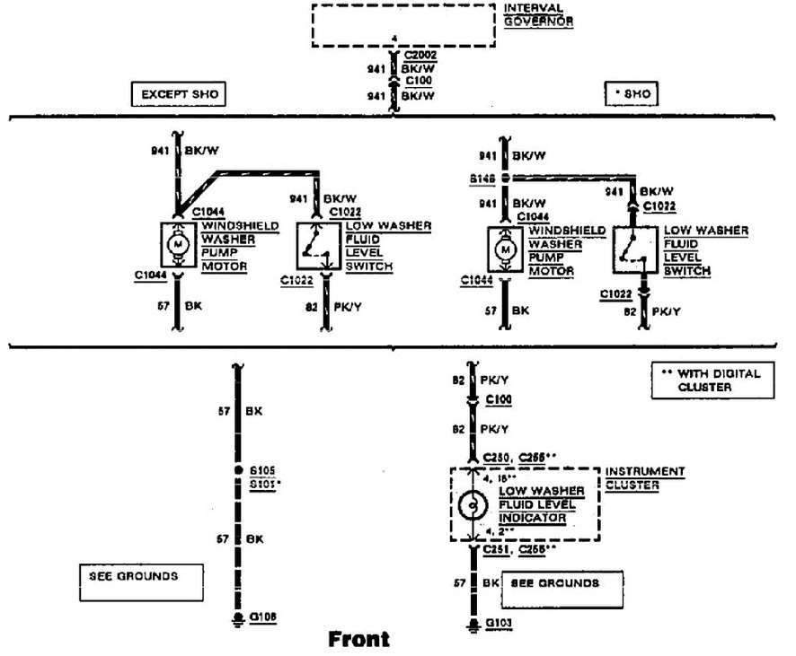 need to find the diagram on a 1992 ford taurus  for the wiring of the wipes  they are not