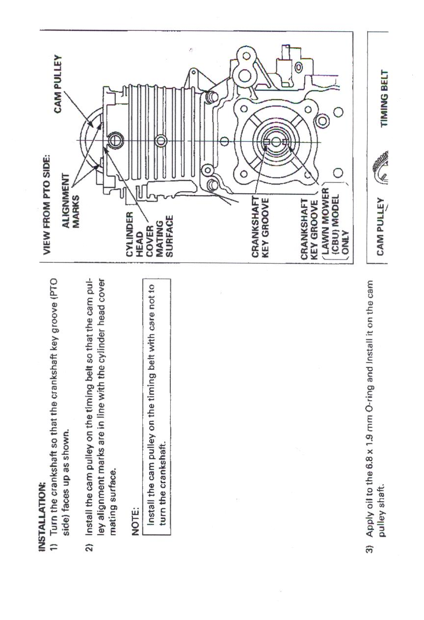 how to set valve timing on honda lawn mower hrr2164vxa s  n Honda Lawn Mowers Honda Lawn Mowers