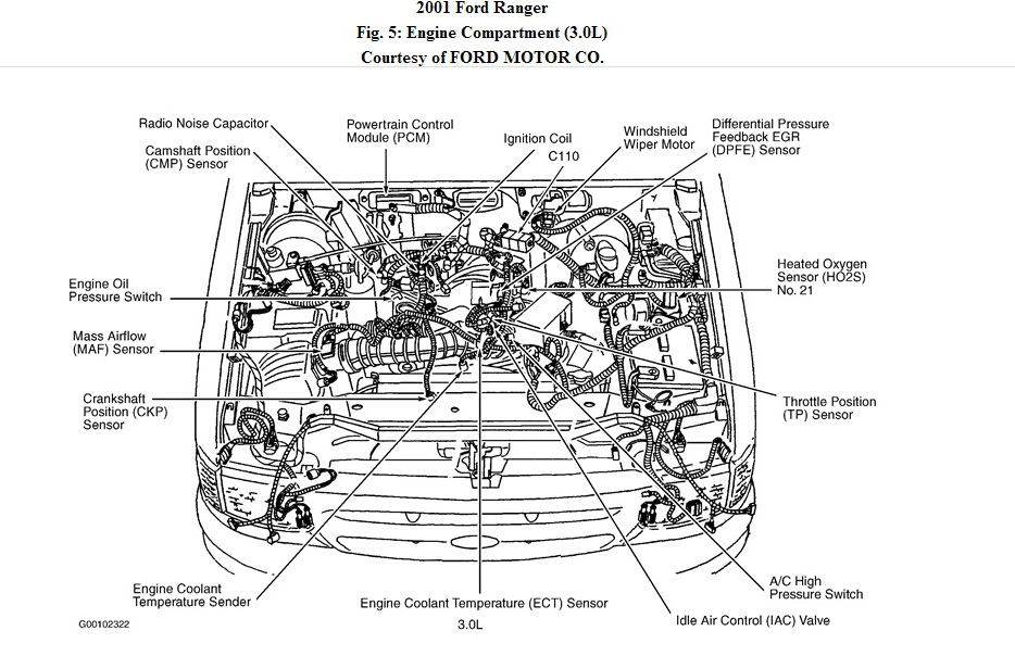 where is my egr valve located on my 2001 ford ranger  3