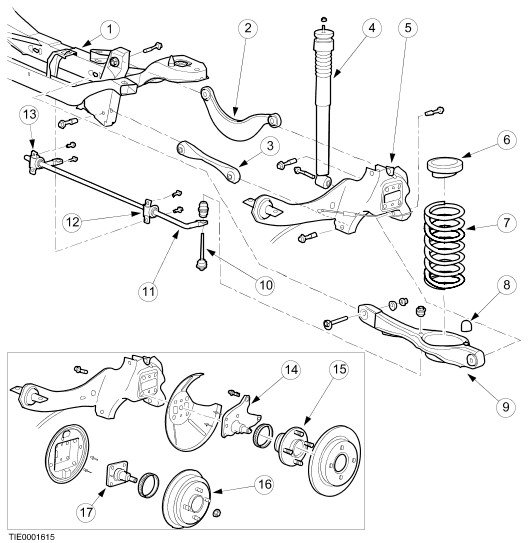 2003 subaru forester rear suspension