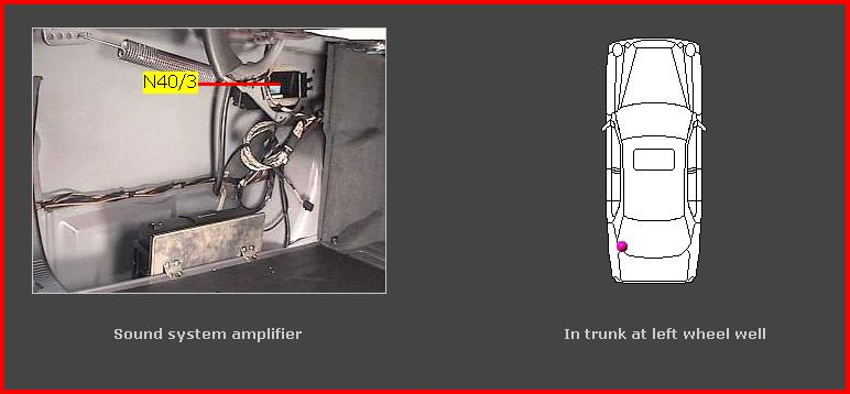 Where Is The Radio Amp Located In A 1995 E320 Sedan