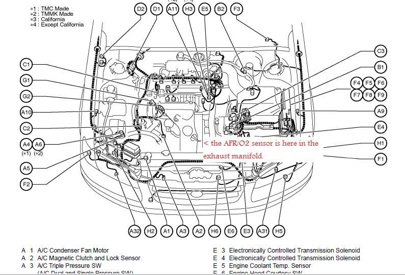 2006 Toyota Avalon 3 5l Serpentine Belt Diagram as well 2009 Chevrolet Spark Wiring Diagram And Electrical System furthermore Opc mr2oc together with 22re Fuel Injection Wiring Diagram likewise Toyota Ta a Fuse Box Diagram 414521. on 1993 toyota 4runner engine diagram