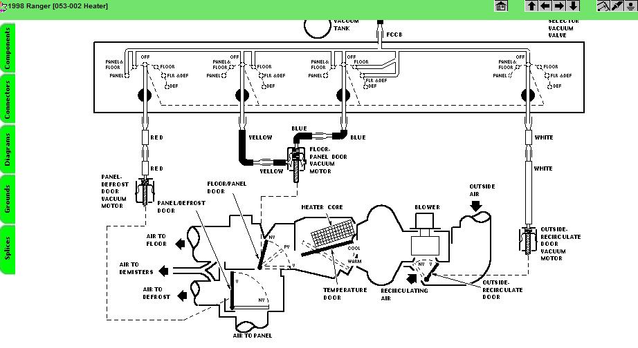 1998 Ford Ranger  Need Wiring Diagram  Blend  Controls  Servo