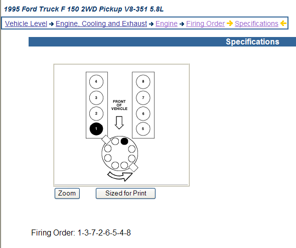 95 f150 wiring diagram showed a firing order of a 351w camshaft graphic graphic graphic