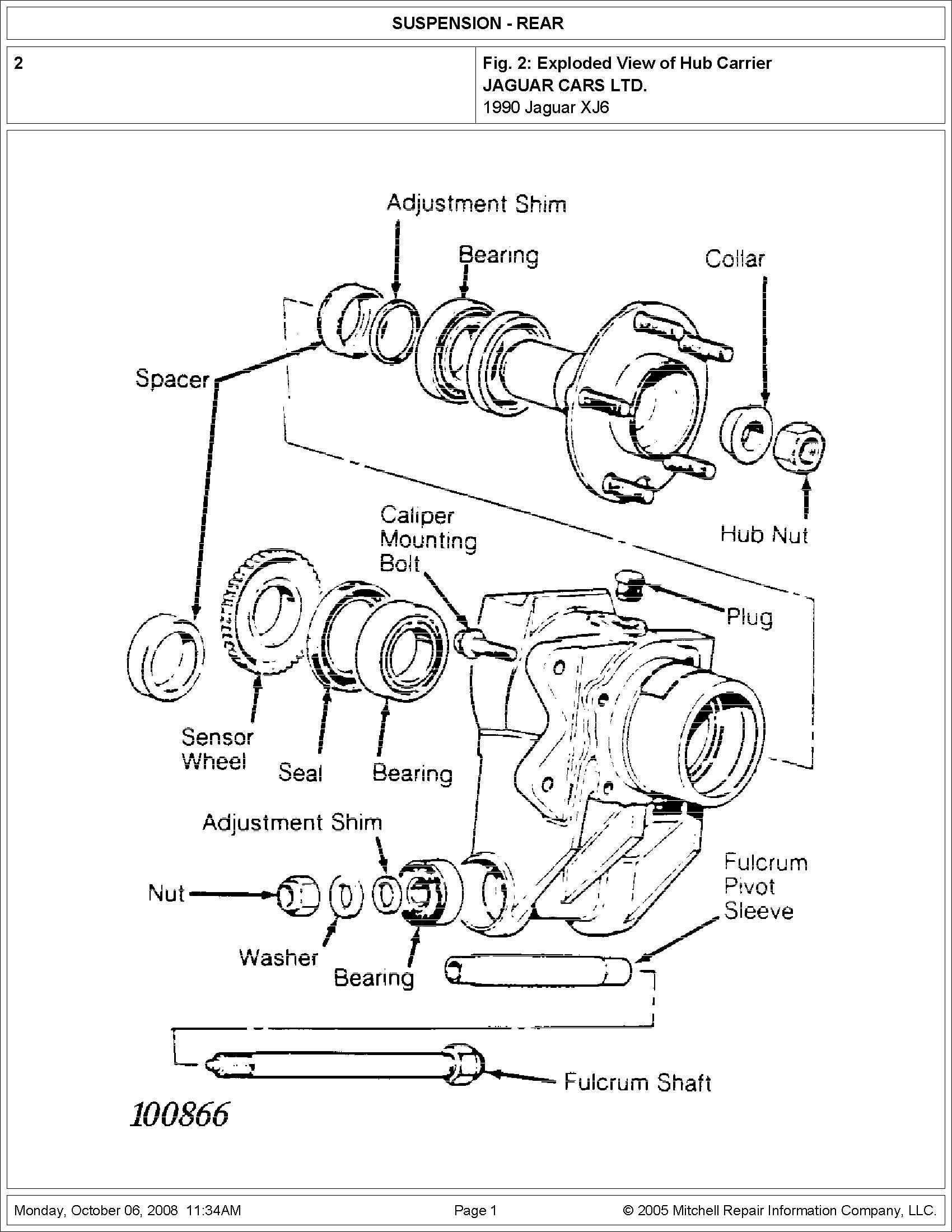 i want to rebuild my 1990 xj6 left rear hub assembly  i