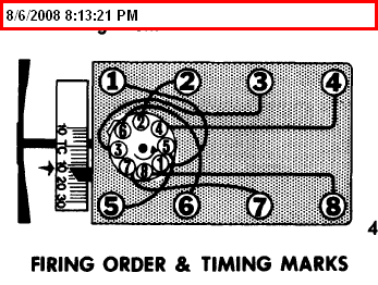 What is the firing order for a Ford 302?