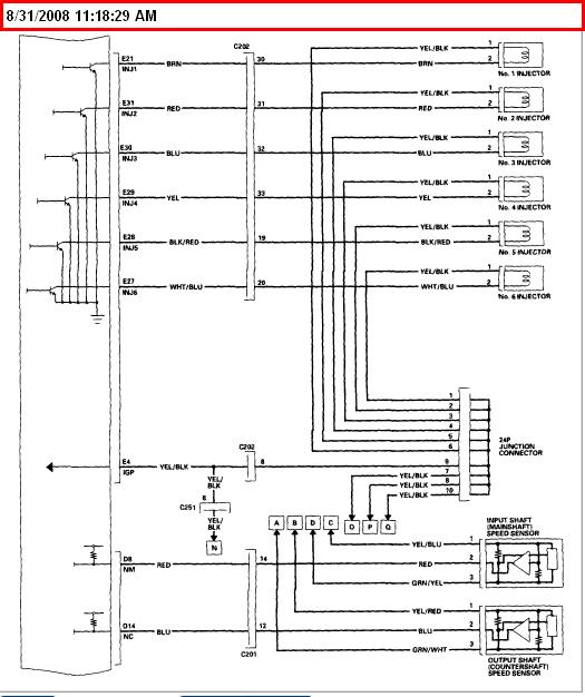 need wiring diagram for an 03 honda accord ex v6 4 door ... 98 honda accord window wiring diagram